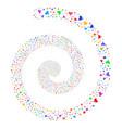 plugin fireworks spiral vector image