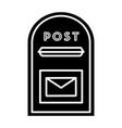 post box icon black sign on vector image vector image