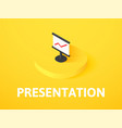 presentation isometric icon isolated on color vector image vector image