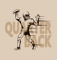 quarterback graphic isolated vector image vector image