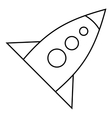 Rocket with three portholes icon outline style vector image vector image