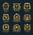 royal heraldry logo set vector image