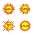 Sale Explosion icons vector image