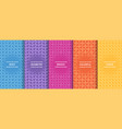 set bright colorful seamless geometric vector image vector image