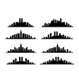 set of city skyline graphic vector image