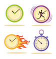 set of varied watch poster vector image