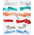 set satin ribbons in different colors vector image vector image