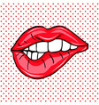 sweet sexy pop art pair of glossy lips vector image vector image