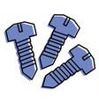 three screw tools repair objects vector image