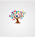 tree house logo with colorful concept icon vector image vector image