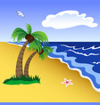 tropical beach scene vector image