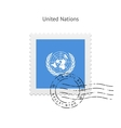 United Nations Flag Postage Stamp vector image vector image