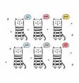 variety cute cats set vector image vector image