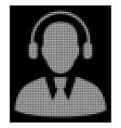 white halftone call center operator icon vector image vector image