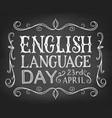 english language day vector image