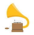 gramophone flat icon music and instrument vector image