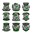 a collection of emblems logos military man vector image vector image