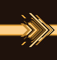 abstract yellow arrow technology on brown vector image