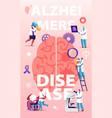 alzheimer disease concept tiny doctors walking vector image