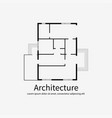 architectural background template vector image vector image