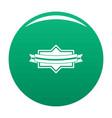badge ribbon icon green vector image vector image