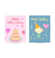 birthday party brochure templates set flayer vector image
