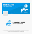 blue business logo template for help cash out vector image