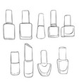 bottles of nail polish vector image