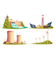 cartoon power stations isolated set vector image