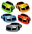 cartoon style racing car vector image vector image