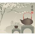 China tea vector image vector image