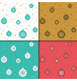 christmas and happy new year pattern set winter vector image vector image