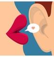 Concept of gossip vector image vector image