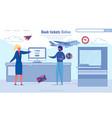 convenient service book tickets online cartoon vector image vector image
