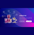 creative concept creator generates idea vector image