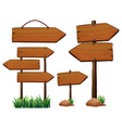 Different design of wooden signs