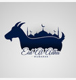 eid al adha mubarak background with goat and vector image vector image
