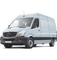 European delivery van vector image vector image