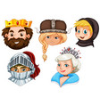 fairytale characters on white background vector image vector image