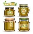 feijoa jam in glass jars vector image vector image