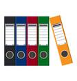 files ring binders colorful office folders vector image