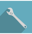 flat adjustable wrench vector image vector image