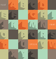 Flat alphabet icons vector image vector image