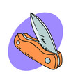 folding knife vector image vector image