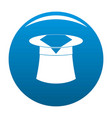 hat with napkin icon blue vector image vector image