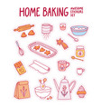 home baking awesome stickers set vector image vector image