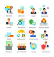 intellectual property flat icons set vector image