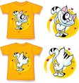 kid shirt with cute cat printed vector image vector image