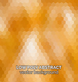 Low poly abstract background Orange polygonal vector image vector image