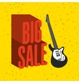 music sale design vector image vector image